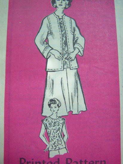70s Vintage Suit Flared Skirt Overblouse Mail Order Anne Adams Sewing Pattern 4667