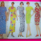 Misses 6 8 10 Dress Overlay Wrap Styles Short or Long Tapered Skirt Sewing Pattern 4933
