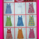New Girls 7 8 10 Sewing Pattern 4964 9 Fast and Easy Skort Jumper Empire Dress