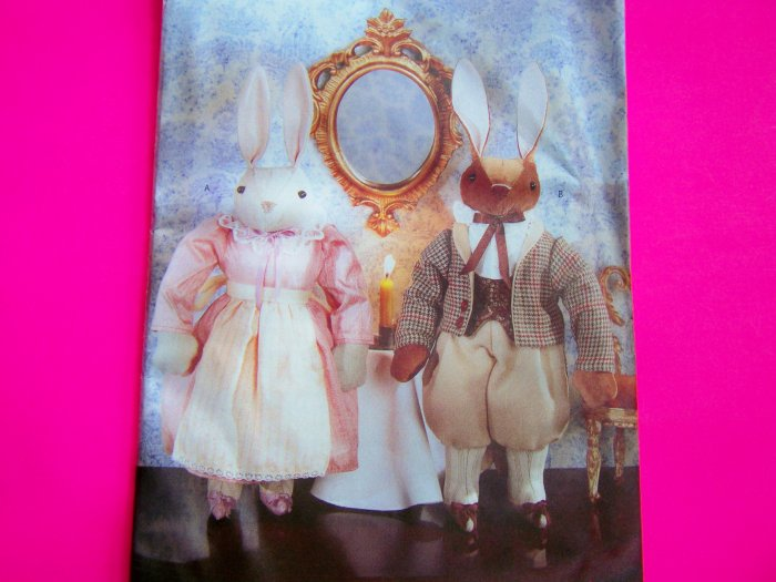 """Decorative 12"""" Easter Bunny Rabbit Doll Clothes Craft Sewing Pattern 4967"""