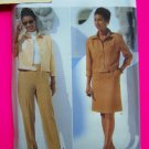 Misses Suit 8 10 12 Waist Jacket A Line Skirt Slim Pants Essence Sewing Pattern 5005