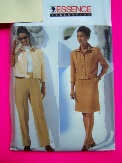 Ladies Suit Short Jacket A Line Skirt Tapered Pants 14 16 18 Sewing Pattern 5005