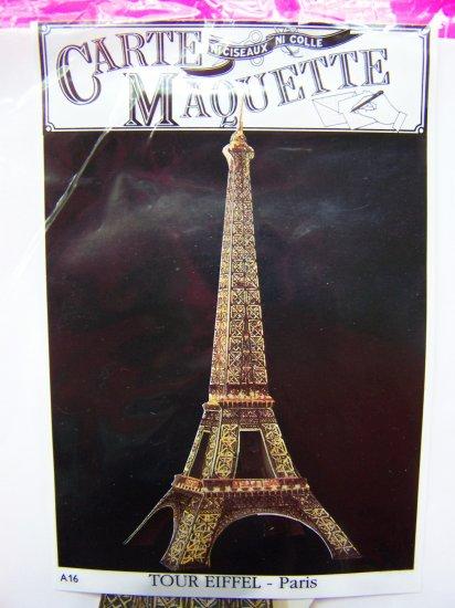 Vintage 1980s Eiffel Tower Greeting Card 3 D Postcard Carte Maquette Paris Souvenir Puzzle