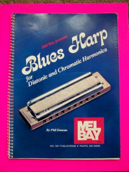 Blues Harp Diatonic and Chromatic Harmonica Music Book