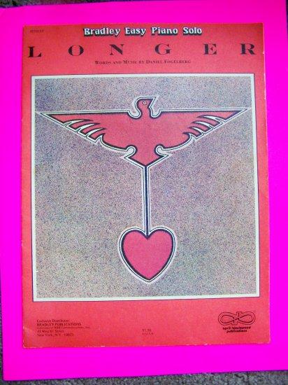 1970s Dan Fogelberg Longer Sheet Music Song Bradley Easy Piano Solo Vintage 1979
