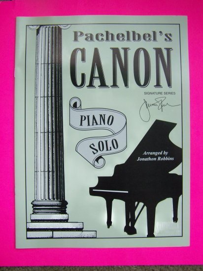 Pachelbels Canon Piano Solo Music Book Sheets