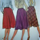 Easy Vintage Skirts Slight Flare Elastic Waist Pockets Sz 14 Sewing Pattern 3496