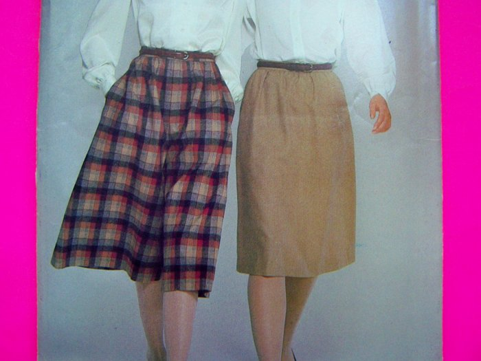 Vintage A Line Skirt Wide Leg Culottes 14 16 18 Sewing Pattern 5314