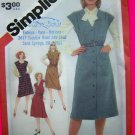 Vintage Jumper Dress Wrap Button Up Sewing Pattern 5196