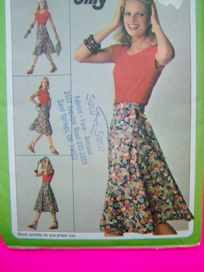 1980s Vintage Sewing Pattern Wrap Skirt Sz 14 16 Jiffy Simplicity 9749