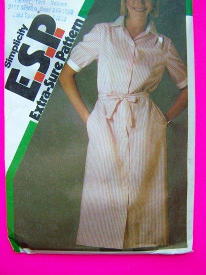 Vintage Shirtwaist Dress Sewing Pattern Sz 10 12 14 Simplicity 6399