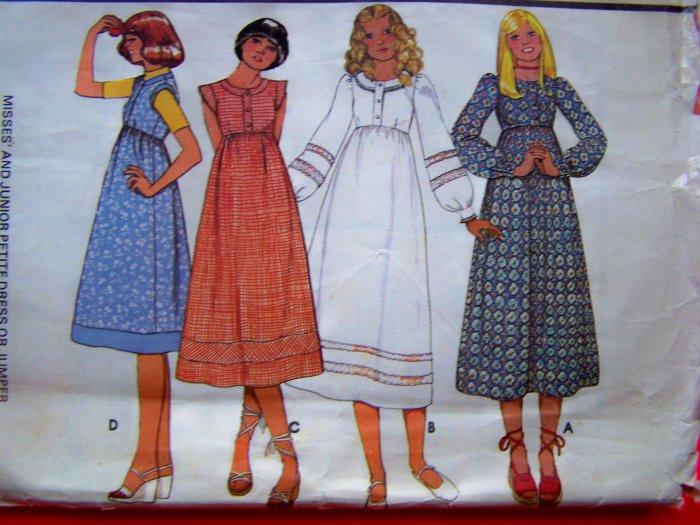70s Vintage B 34 Empire Midi Dress or Jumper Hippie Sewing Pattern 5599