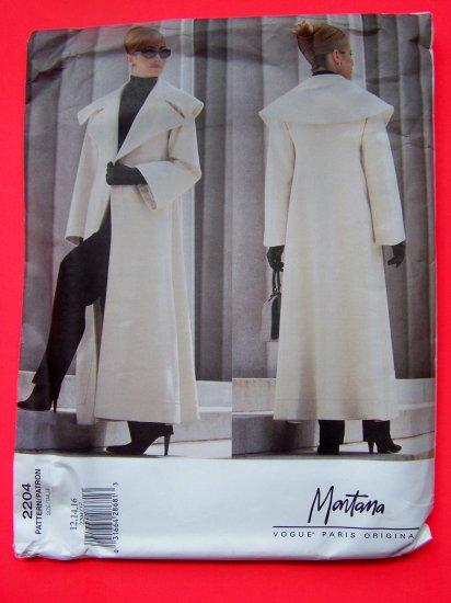 Vogue Paris Original Designer Montana Coat Jacket 12 14 16 Sewing Pattern 2204