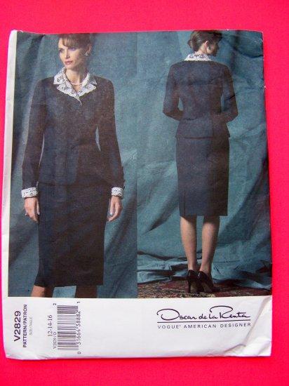 New Vogue Am Designer Princess Seamed A Line Skirt Jacket Suit 12 14 16 Sewing Pattern 2829