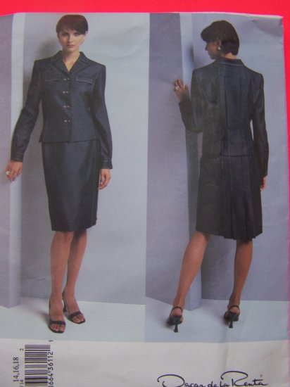 New Vogue Shirt Jacket A Line Skirt Princess Seams 14 16 18 Designer Sewing Pattern 2723