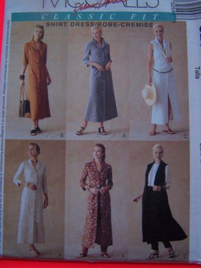 McCalls Sewing Pattern 3254 Shirt Dress 14 16 18 Uncut
