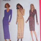 Wrap Top Slim Wiggle Skirt 2 Piece Dress 6 8 10 Sewing Pattern 3662 1 Penny USA Shipping