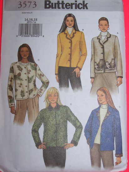 Set of Lined Loose Fit Jackets 14 16 18 Sewing Pattern 3573 1 Penny USA Shipping