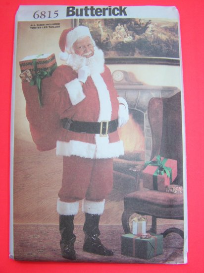 New Santa Clause Suit Christmas Costume S M L XL Sewing Pattern 6815