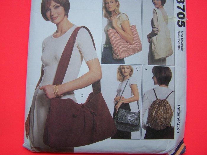 Totebag Backpack Slingbag Messenger Bag Tote Purse Accessories Sewing Pattern 9705