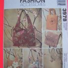 New Purse Bag Hangbag McCall's Fashion Accessories Sewing Pattern 3978
