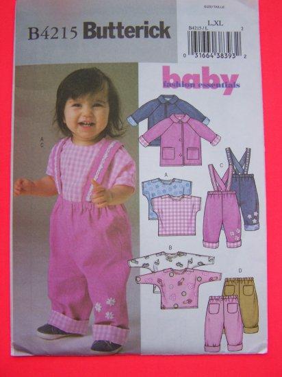 USA 1 Cent S&H Uncut Sewing Pattern 4215 L XL Infant Babies Jacket Top Pants 22 - 29 Pounds