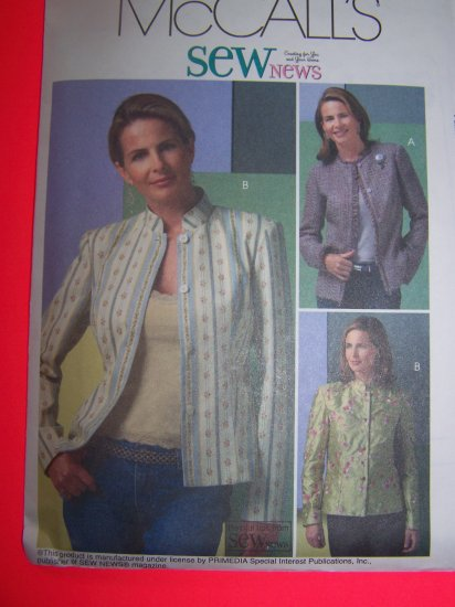 Lined Jackets Mandarin or Fringe Collar 14 16 18 20 Sewing Pattern 4782 1 Penny USA Shipping