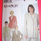 Easy Relaxed Fit Jacket Blazer Jackets 14 16 18 20 Simplicity Sewing Pattern 9138