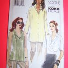 New KoKo Beall Designer Tops Wrap Tucks Slits 12 14 16  Vogue Sewing Pattern 7429 1 Penny USA S&H