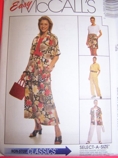 Kimono Sleeve Pullover Shirt Top Pull On Skirt Pants Shorts 14 16 18 Sewing Pattern 2567