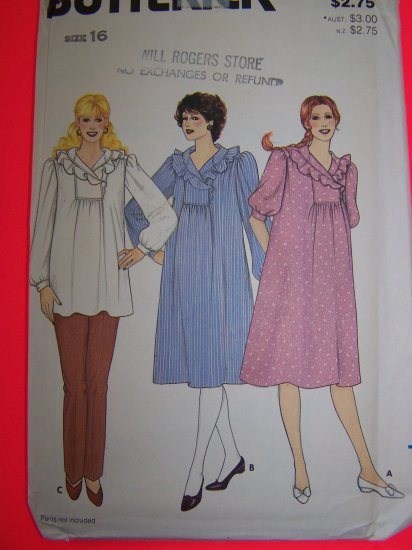 Maternity Dress Tunic Top Vintage B 38 Sewing Pattern 4232 1 Penny SHipping