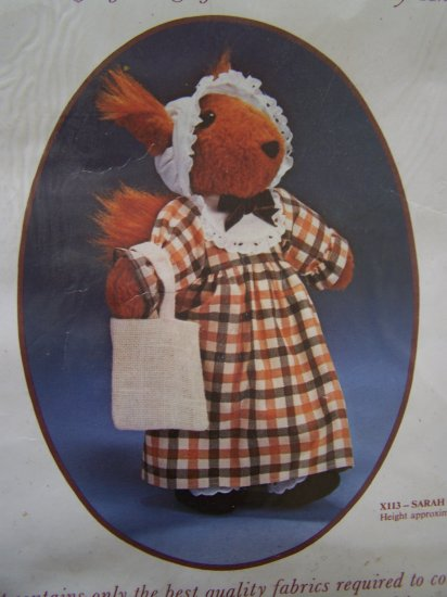 Vintage Sarah Squirrel Stuffed Doll Animal Kit British Country Animals Dunlicraft  X113