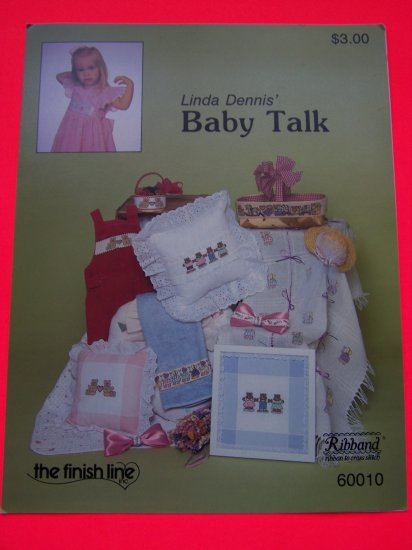 Vintage Baby Talk Cross Stitch Patterns Sunbonnet Girls Toys on Parade Bears in love Bear family