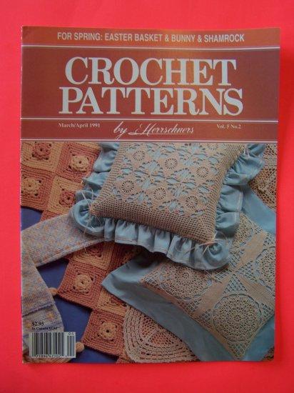 Herrschners Crochet Patterns 1991 Easter Basket Dress Bunny Pineapple Valance