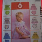 McCalls Sewing Pattern 4351 Infants Dresses and Panties S M L XL $1 USA SHipping