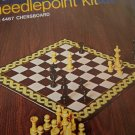 Vintage Bucilla Needlepoint Chessboard or Pillow Kit # 4467 Chess Game Board