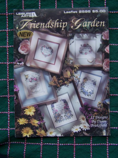 Leisure Arts Floral Friendship Garden Leaflet 2595 Embroidery Patterns