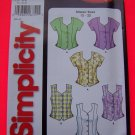 Simplicity 5521 Sz 12 14 16 18 20 22 Misses Set of Blouses Tops 1 Dollar USA Shipping