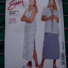 McCalls Sewing Pattern 2730 SunDress Unlined Jacket Dress 10 12 14 16