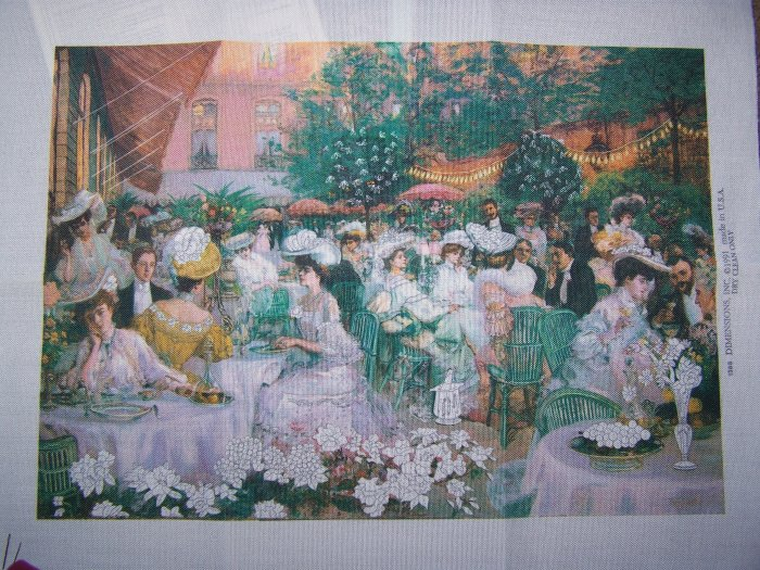 Dimensions Dinner At The Ritz Needlepoint Crewel Embroidery Kit # 1388