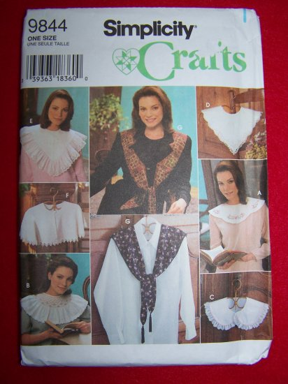 Set of 8 Misses Collars and Embroidery Transfers Sewing Pattern Simplicity Crafts 9844