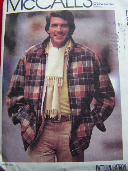 Vintage Mens Jacket Detachable Lining Rain Coat 38 40 Sewing Pattern 7302 $1 US S&H