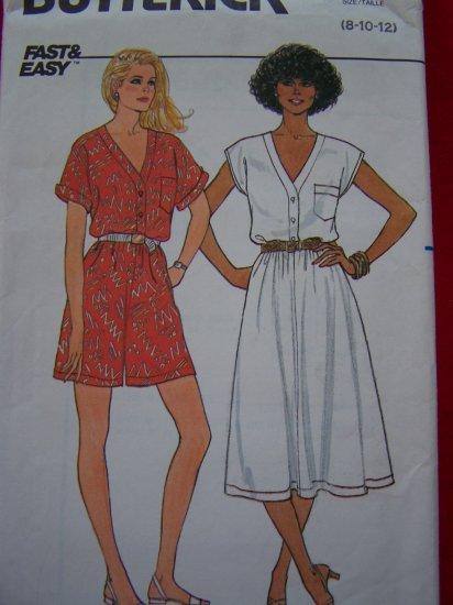 Vintage Sewing Pattern 8 10 12 Jumpsuit Shorts Romper Flared Dress # 3277 Patterns Sale