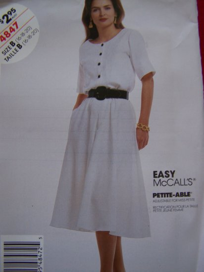 Pullover Dress 4 Gored Skirt Inverted Pleat 16 18 20 Sewing Pattern 4847 Patterns Sale