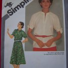 Vintage Pullover Stand Up Collar Dress or Tunic Top 18 20 Sewing Pattern 9872 US 1 Shipping