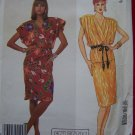 1980s Vintage Sewing Pattern Pullover Dress Surplice Top Peplum 2584 $1 S&H