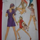 Misses Body Suit Mini Wrap Skirt Bag Bodysuit Vintage Simplicity Sewing Pattern 8880