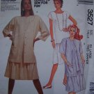 $5 Pattern Sale Vintage McCall's Sewing Pullover Dress Back V Neck Plus Size 22 24