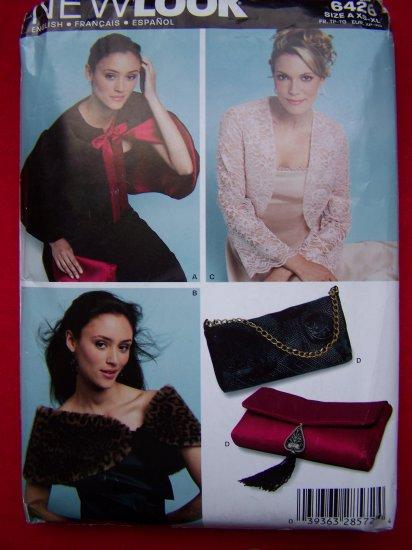 Misses Sewing Pattern Formal Jacket Stole Wrap Evening Bag 6426 Sz 6 8 10 12 14 16 18 20 22 24