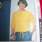 Vintage Sewing Pattern Pullover Top Slash Neck Sleeve Bands Drawstring Waist 8472